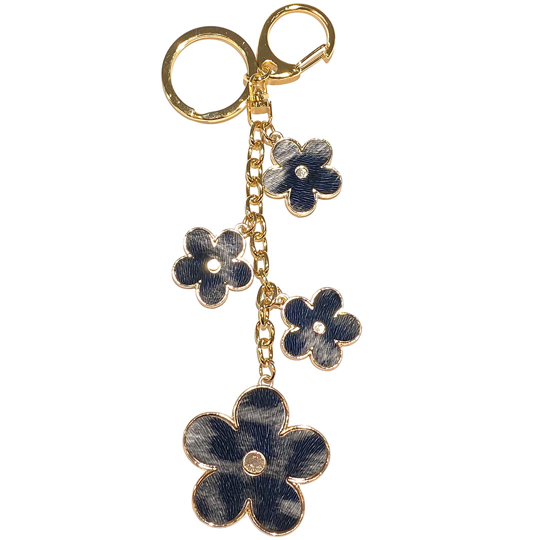 Charm Flower Animal Print Grey/Black