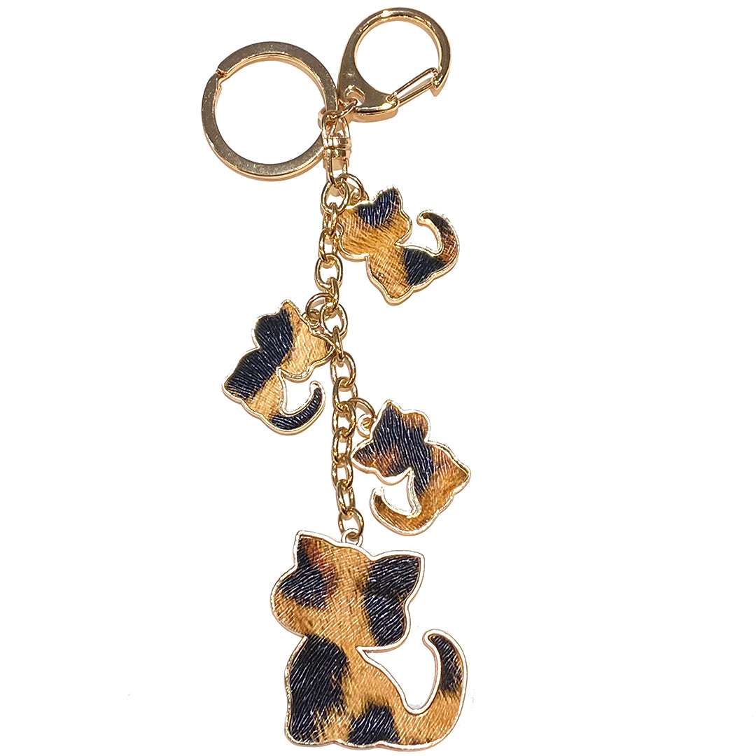 Charm Cat Animal Print Beige/Black