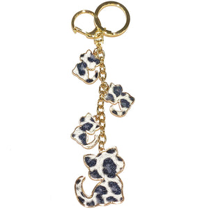 Charm Cat Cheetah Grey/Black