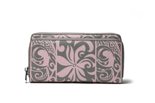 Load image into Gallery viewer, Wristlet Allison Tapa Tiare Pink Grey