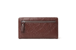 Wallet Teyla Fern Lei Embossed Brown
