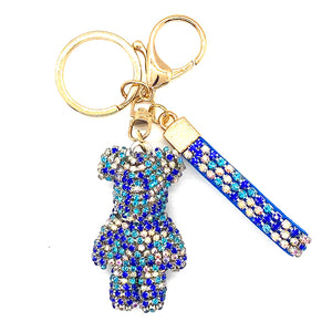 Charm 3D Sparkle Bear Blue