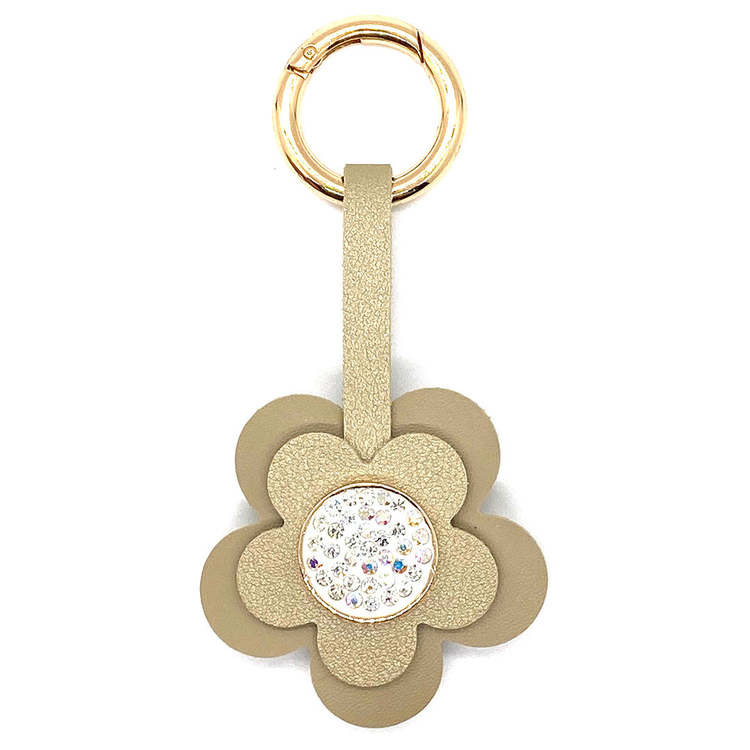 Charm Ariel Flower Crystal Gold