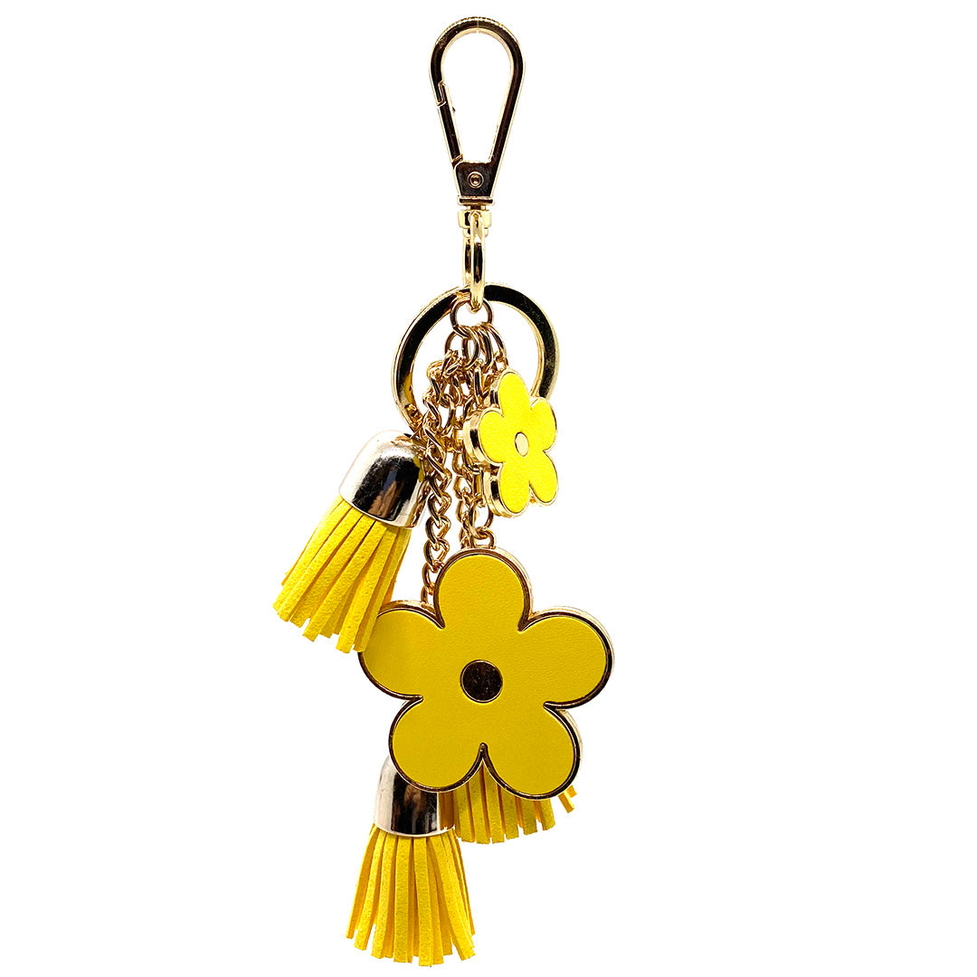 Charm Ariel Flower 3 Tassel Yellow