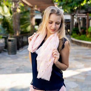 Scarf Danielle Gold Butterfly Blush