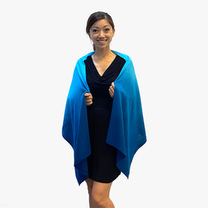 Magic Shawl Teal/White