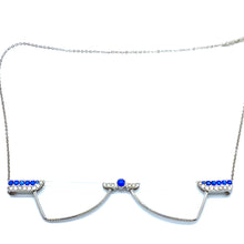 Load image into Gallery viewer, Blinks Foldable Reading Glasses Necklace Blue