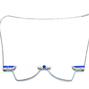 Blinks Foldable Reading Glasses Necklace Blue