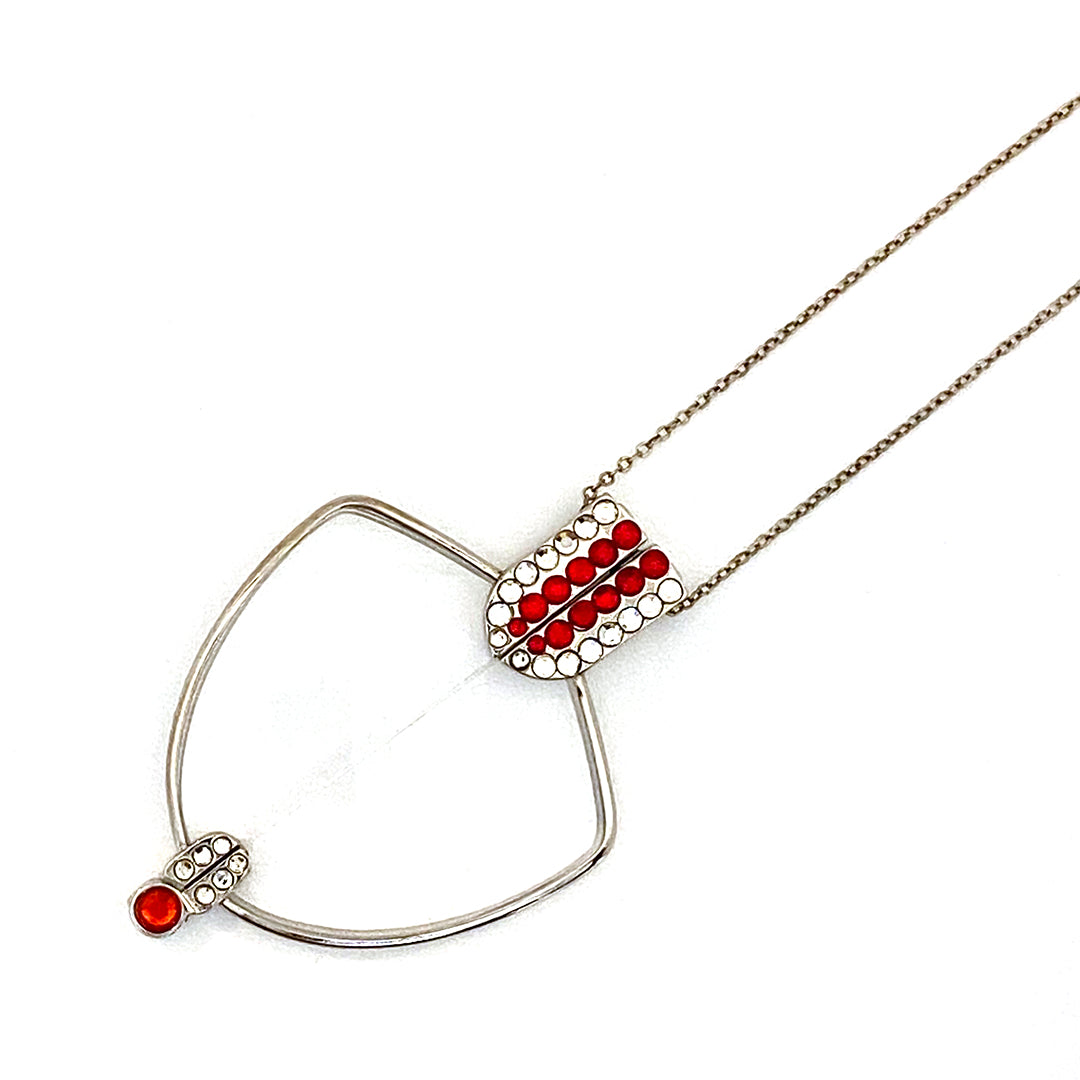 Blinks Foldable Reading Glasses Necklace Red