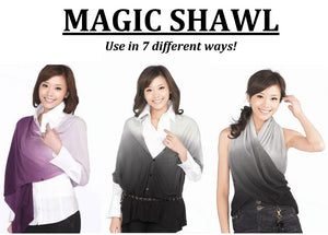 Magic Shawl Brown/White