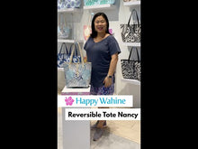 Load and play video in Gallery viewer, Reversible Tote Nancy Small Tapa Pink