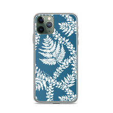 Load image into Gallery viewer, iPhone Phone Case Fern Lei Blue