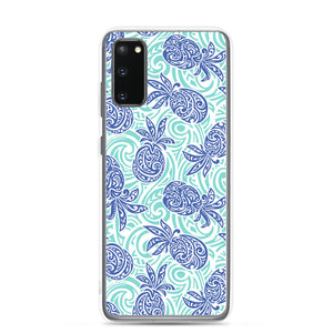 Samsung Phone Case Tapa Pineapple Blue