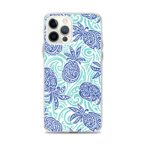 iPhone Phone Case Tapa Pineapple Blue
