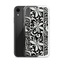 Load image into Gallery viewer, iPhone Phone Case Tapa Tiare Black
