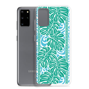 Samsung Phone Case Monstera Blue