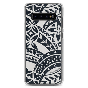 Samsung Phone Case Tapa Black - Happy Wahine