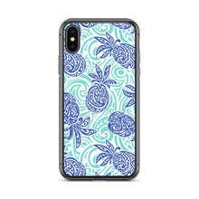 Load image into Gallery viewer, iPhone Phone Case Tapa Pineapple Blue