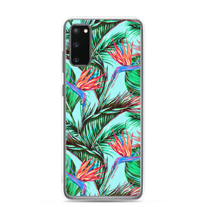 Samsung Phone Case Bird of Paradise Blue