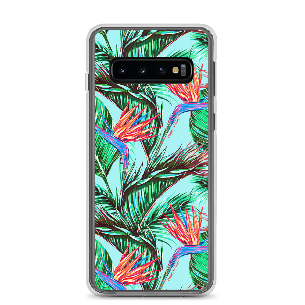 Samsung Phone Case Bird of Paradise Blue - Happy Wahine