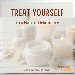 natural manicure shea butter