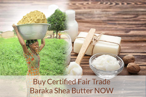 unrefined fair trade shea butter