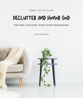 Declutter and Honor God eBook
