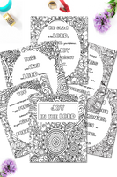 JOY Scripture Coloring Sheets Pack {6 pages}