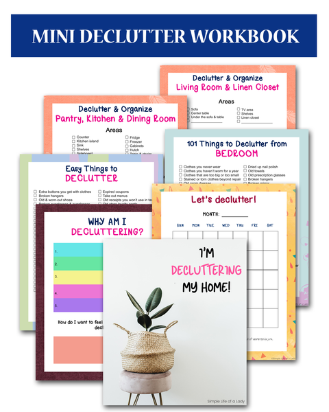Mini Declutter Workbook