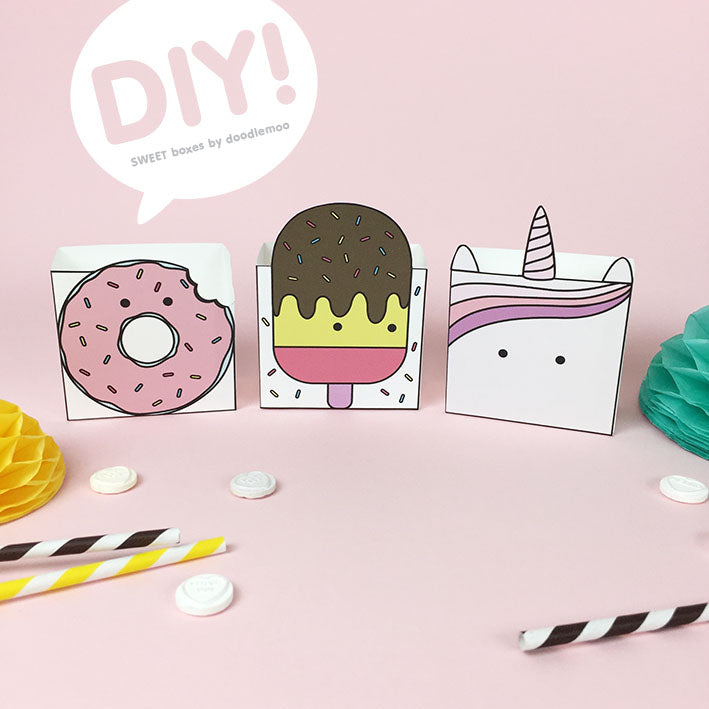 DIY Sweet boxes designed by Doodlemoo