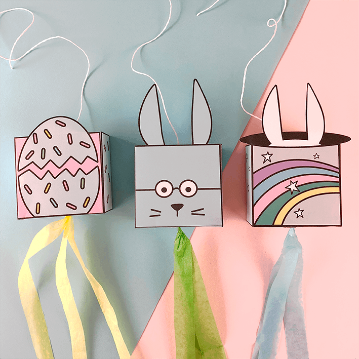 Easter mini piñatas designed by doodlemoo