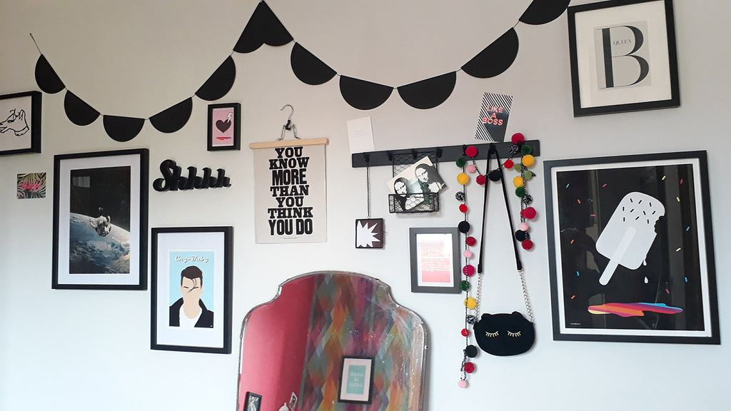 Gallery wall with Ice Lolly print from Doodlemoo, styled by Natasha from Styling York Pretty