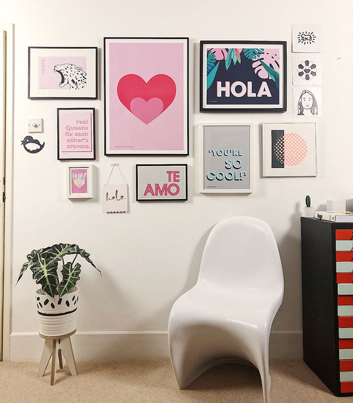 Doodlemoo studio/office Gallery wall