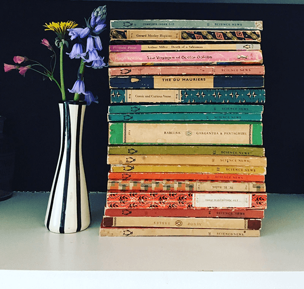 Rainbow books Shelfie by Martha Roberts from The Colourfile