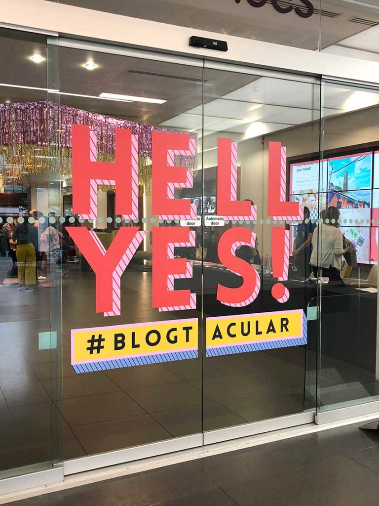 Hell Yes to Blogtacular Entrance! also loved all the graphics for the conference