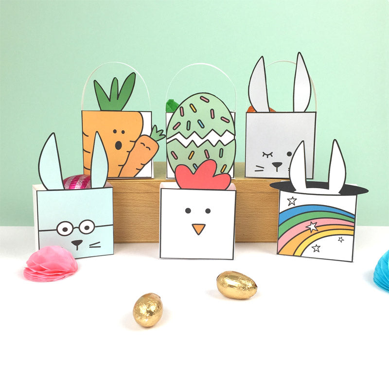 Easter favour boxes by Doodlemoo