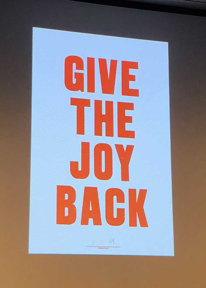 Give The Joy Back by Anthony Burril
