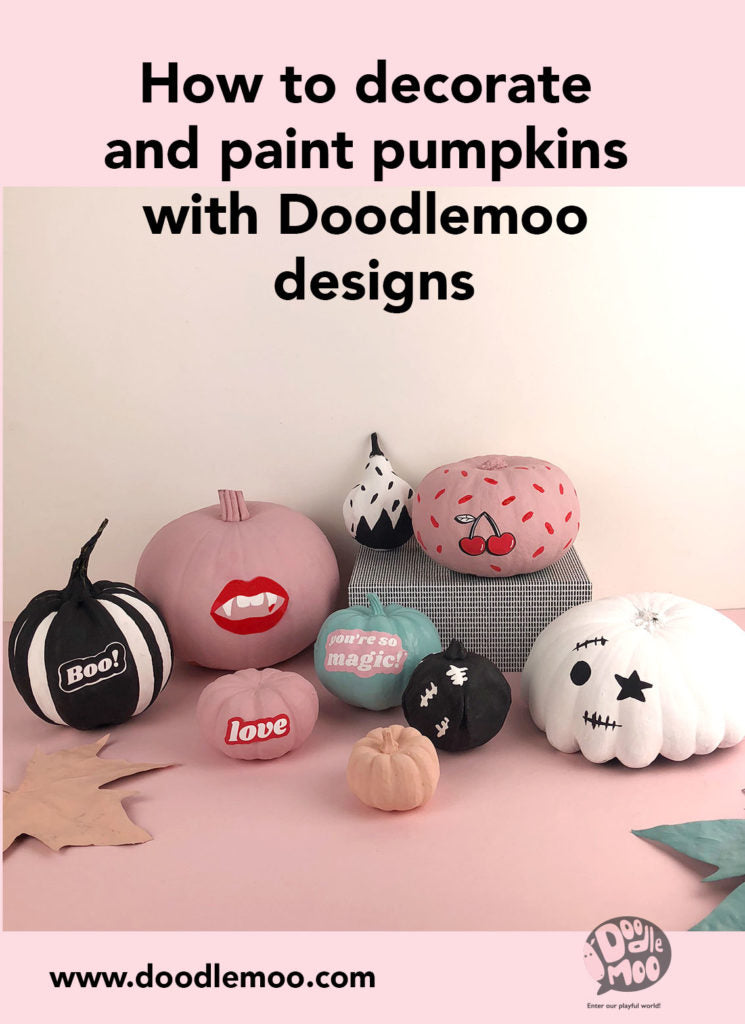 How to decorate and paint pumpkins with Doodlemoo