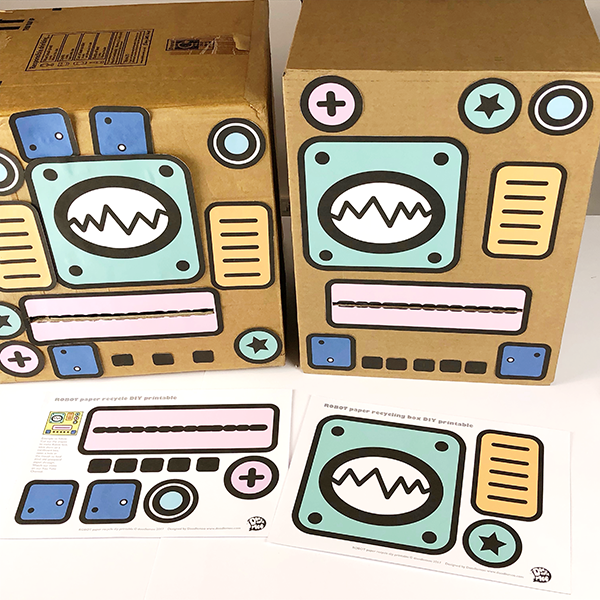 Recycle Robot boxes by Doodlemoo