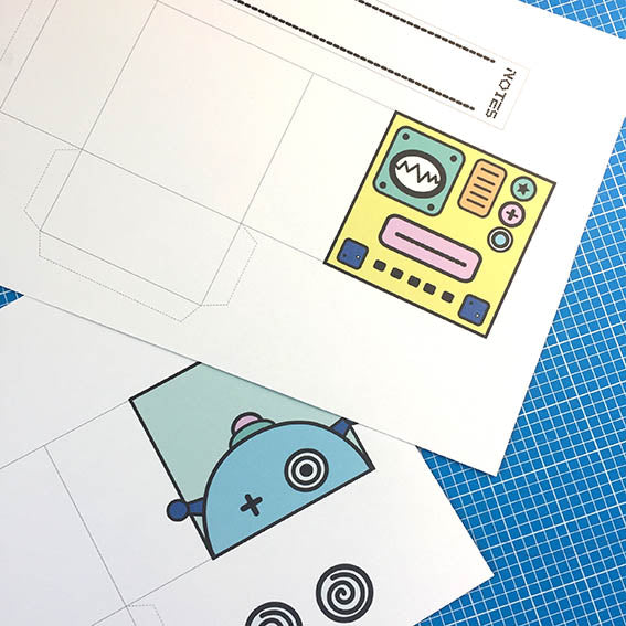 Robot boxes print out