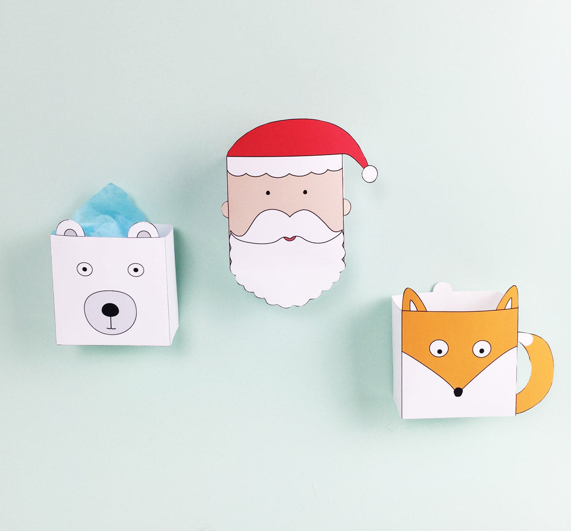 Christmas favour boxes