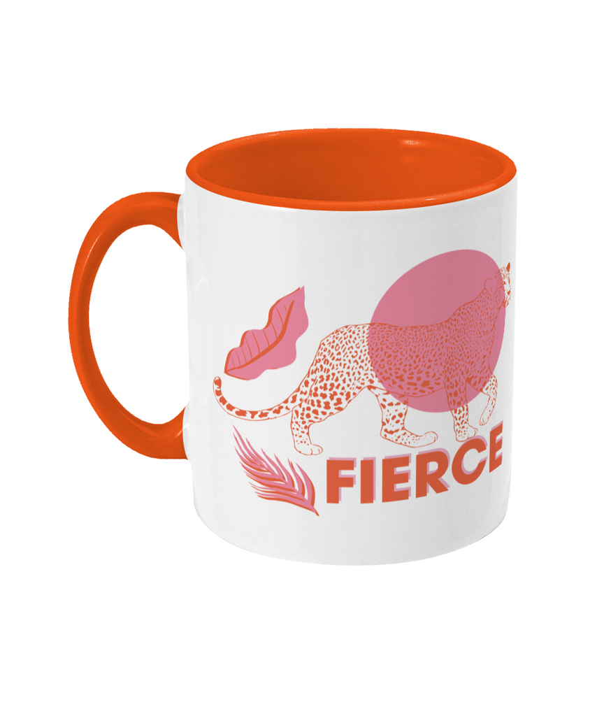 Mug 'Fierce' Orange/Pink - Two Toned Mug