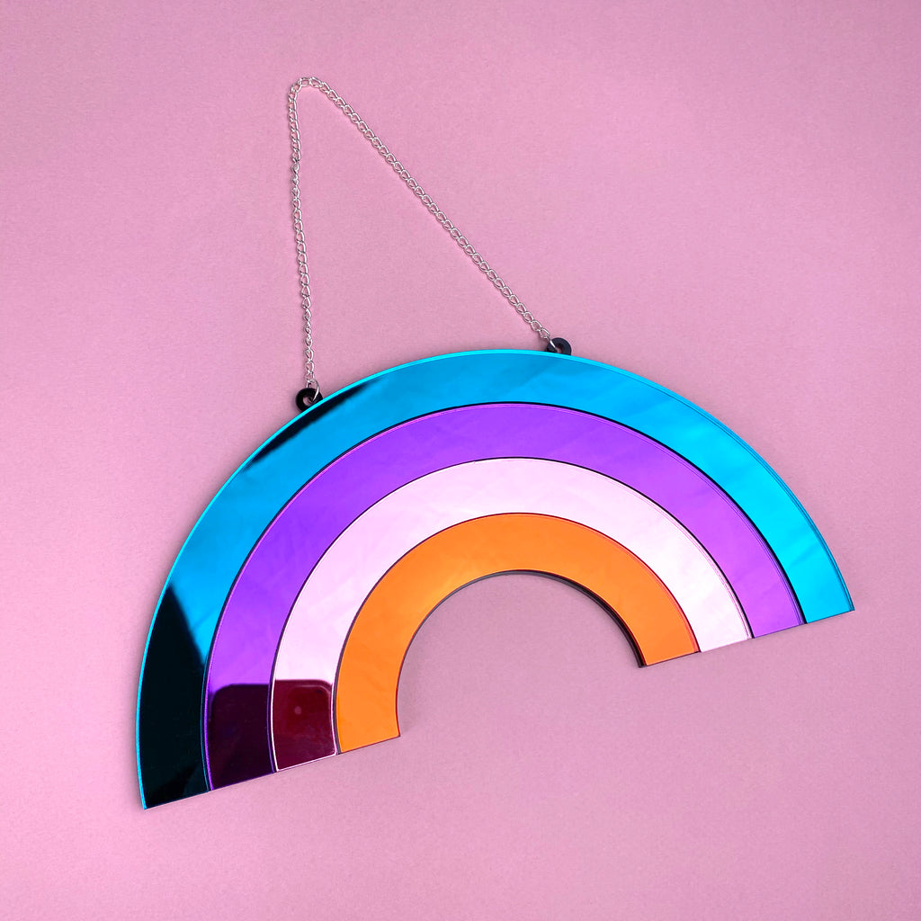 Rainbow Wall Mirror Multicolour