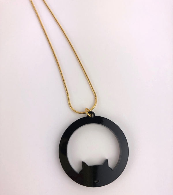 Cat Necklace by Doodlemoo