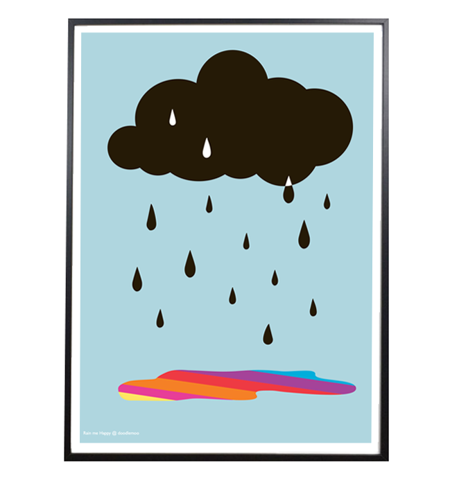 Cloud Print 'Rain me Happy'