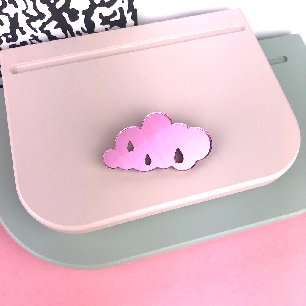Pink Cloud Brooch by Doodlemoo