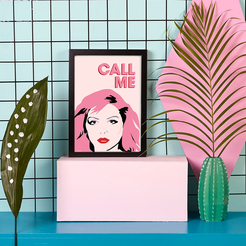 Debbie Harry 'Call Me' art print by playful brand Doodlemoo with plants