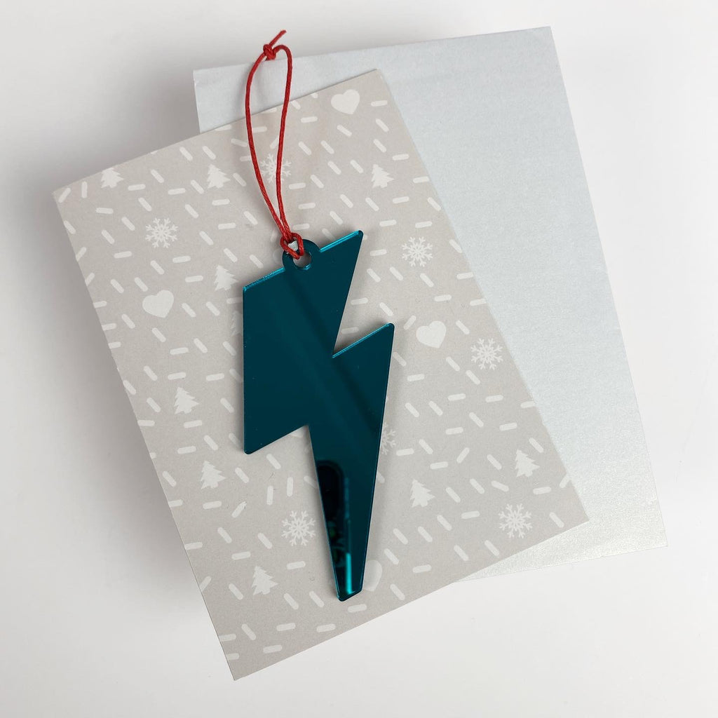Bolt Christmas Bauble Blue with card