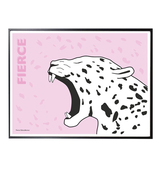 FIERCE Jaguar print by Doodlemoo