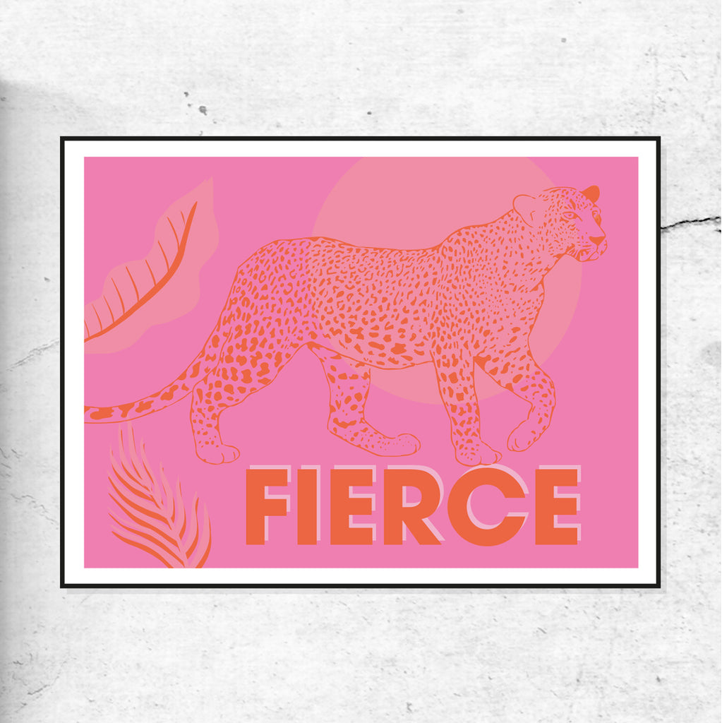 FIERCE Leopard Pink and Orange